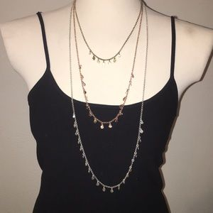 Lucky Brand 3 in one multi color metal necklace